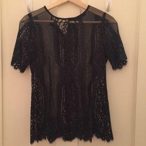 Nanette Lepore Sheer lace top